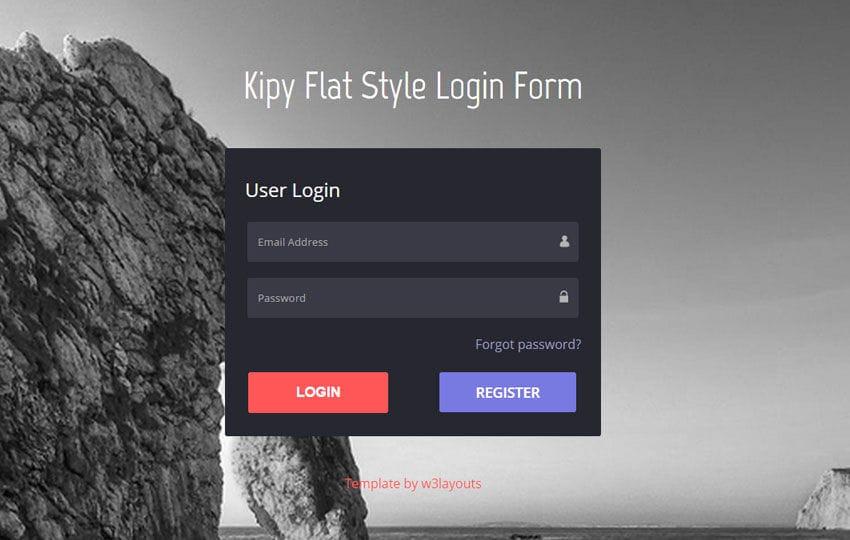 Kіру Flat Style Login Form Responsive Widget Template