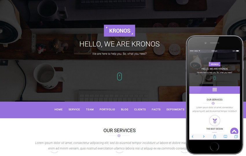 Kronos a Corporate Portfolio Flat Bootstrap Responsive Web Template
