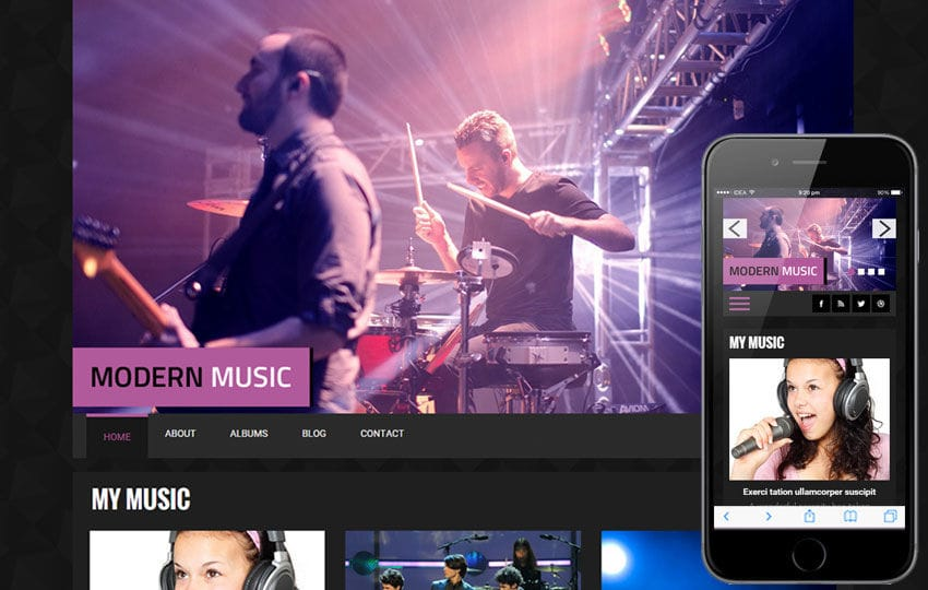 Modern Music a Entertainment Category Flat Bootstrap Responsive web template
