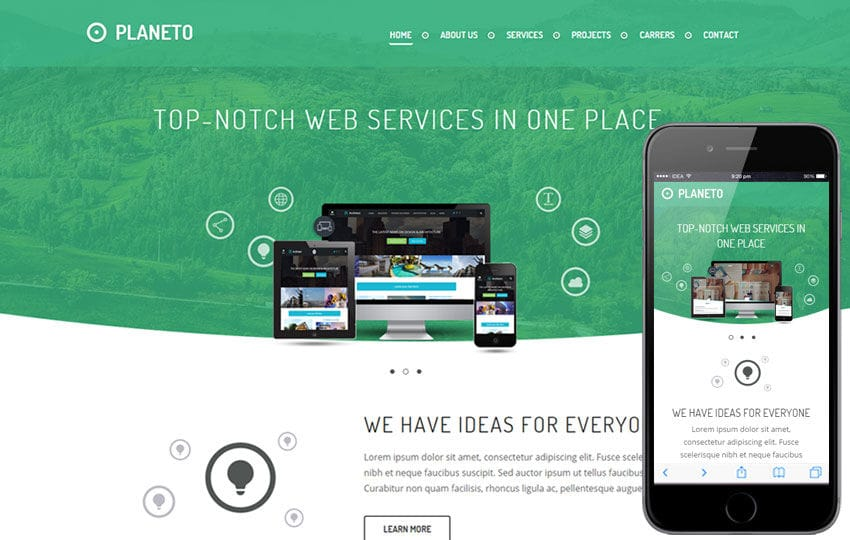 Planeto a Corporate Business Flat Bootstrap Responsive Web Template