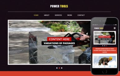 Power Tools a Industrial Category Flat Bootstrap Responsive Web Template