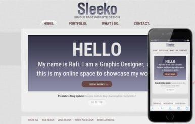 Sleeko a Personal Portfolio Flat Bootstrap Responsive Web Template