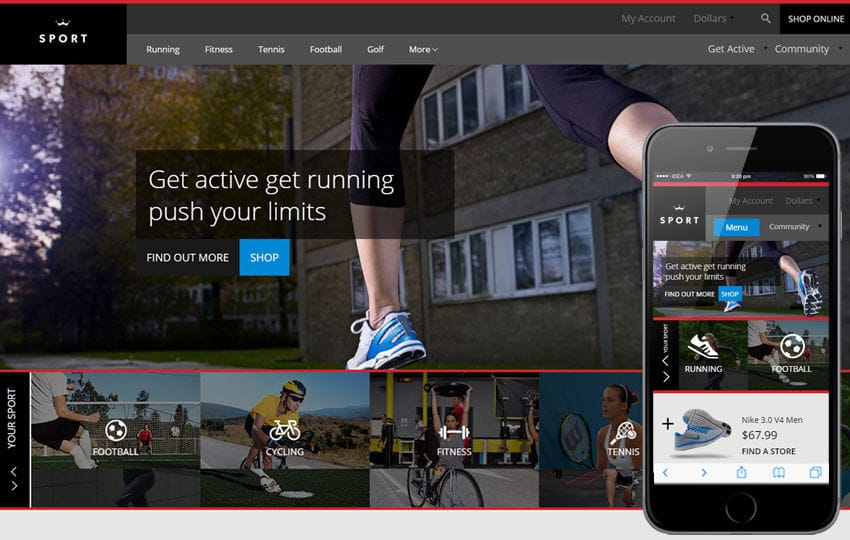 Sport a Flat Ecommerce Bootstrap Responsive Web Template