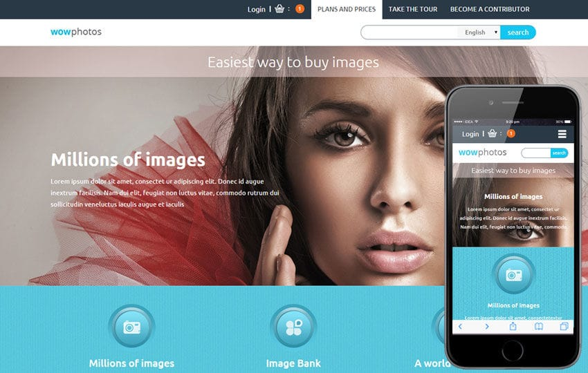 Wow Photos a Flat Ecommerce Bootstrap Responsive Web Template