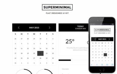 Super Minimal UI Kit a Flat Bootstrap Responsive Web Template