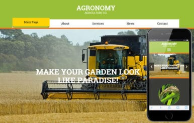Agronomy a Agriculture Category Flat Bootstrap Responsive Web Template