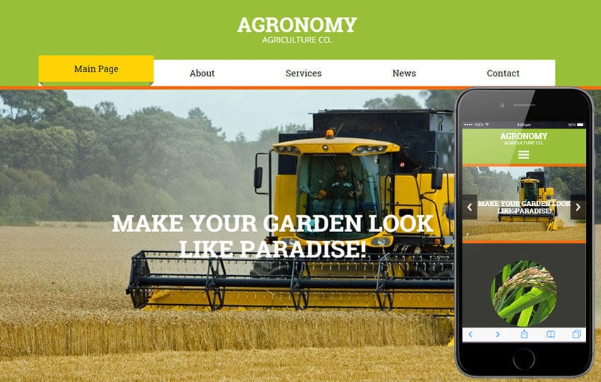 Agronomy a Agriculture Category Flat Bootstrap Responsive Web Template Mobile website template Free