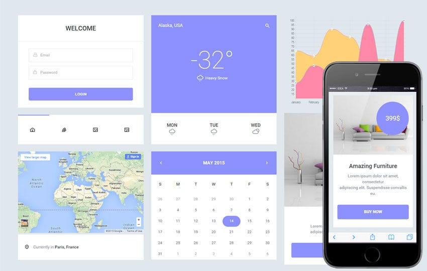 Epic UI Kit a Flat Bootstrap Responsive Web Template Mobile website template Free