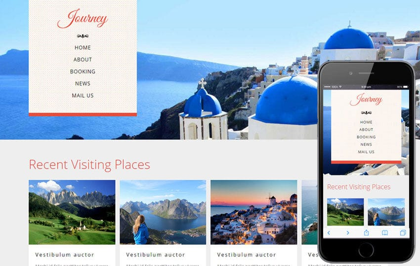 Journey a Travel Guide Flat Bootstrap Responsive web template