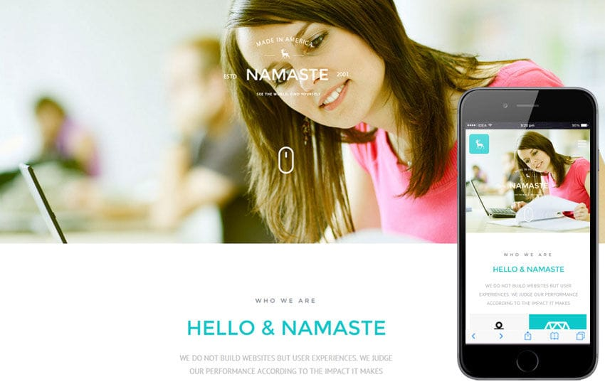 Namaste a Corporate Business Flat Bootstrap Responsive Web Template