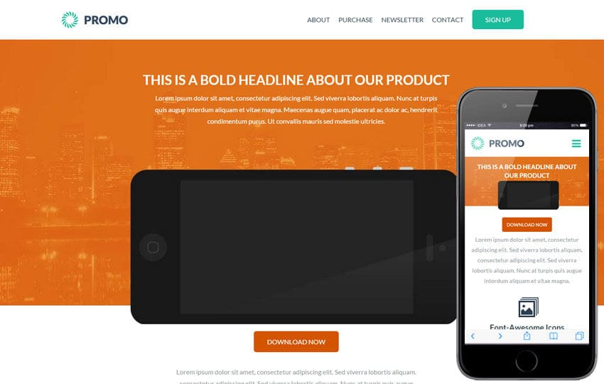 Promo a landingpage Multipurpose Flat Bootstrap Responsive Web Template