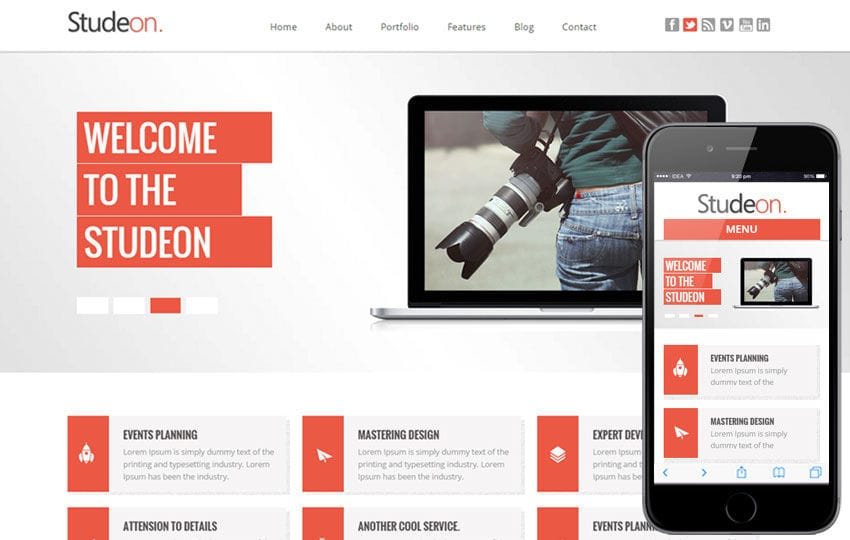 Studeon a Corporate Business Flat Bootstrap Responsive Web Template