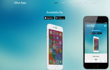 Max App a Mobile App based Flat Bootstrap Responsive Web Template