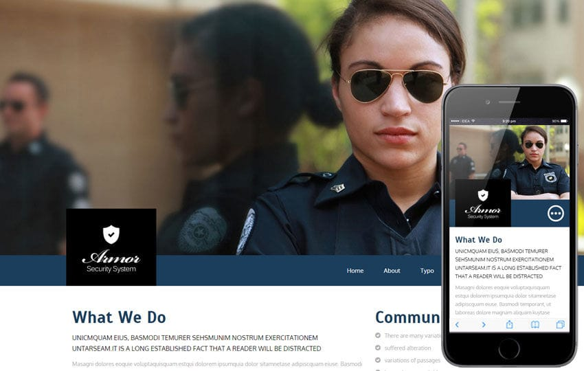 Armor a Services Category Flat Bootstrap Responsive Web Template Mobile website template Free