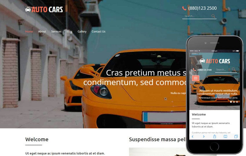 Auto Cars a Auto Mobile Category Flat Bootstrap Responsive Web Template