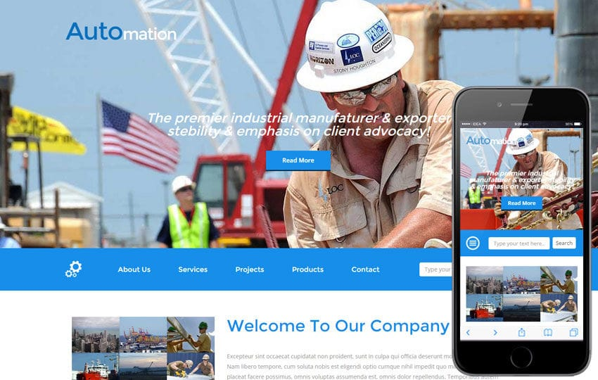Automation a Industrial Category Flat Bootstrap Responsive Web Template