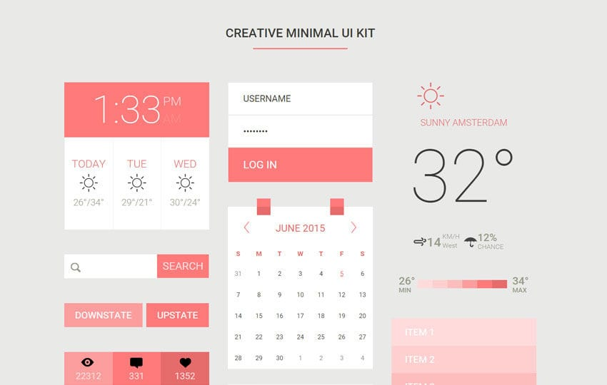 Creative Minimal UI Kit a Flat Bootstrap Responsive Web Template Mobile website template Free