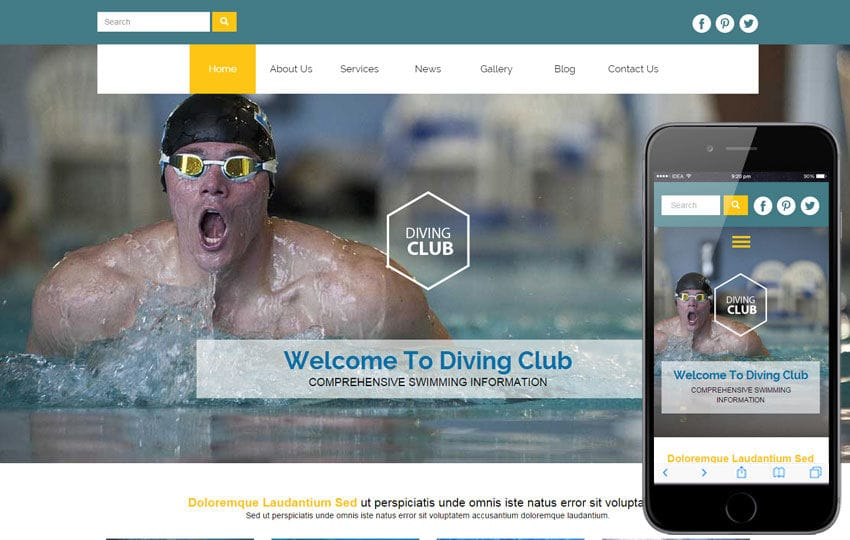 Diving Club a Sports Category Flat Bootstrap Responsive Web Template