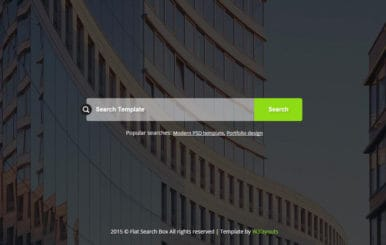 Flat Search Box Form Responsive Widget Template