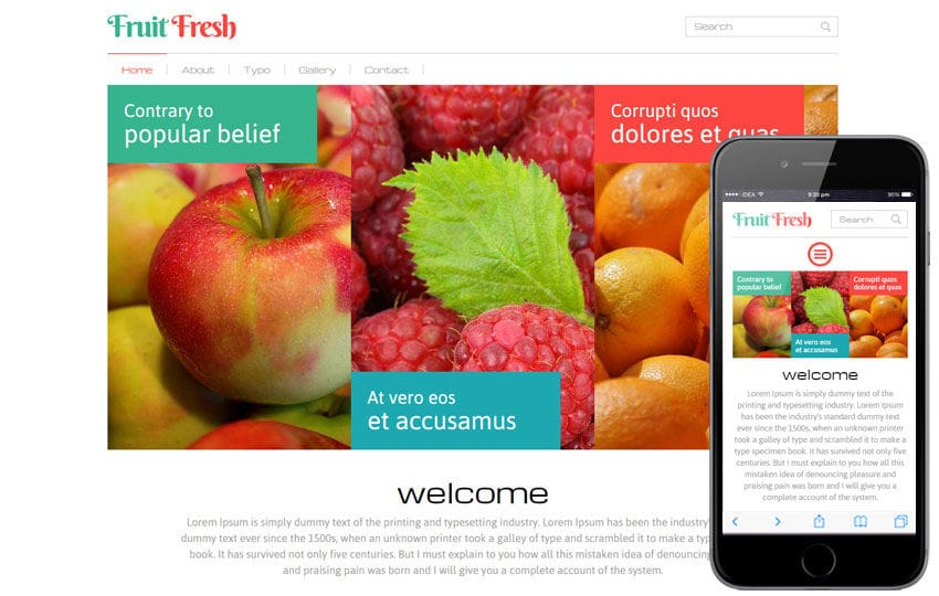 Fruit Fresh a Agriculture Category Flat Bootstrap Responsive Web Template
