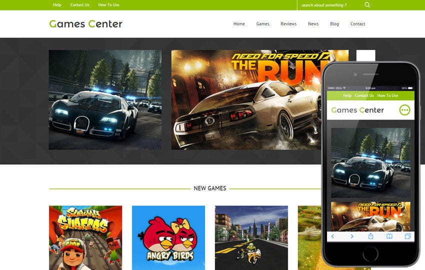 Games Center a Games Category Flat Bootstrap Responsive Web Template Mobile website template Free