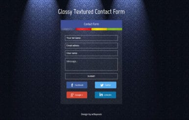 Glossy Textured Contact Form Responsive Widget Template