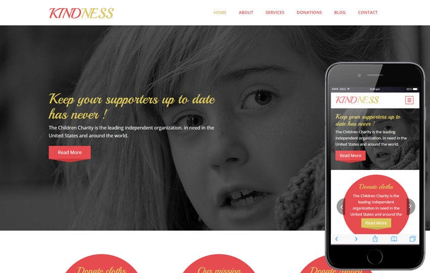 Kindness a Charity Category Flat Bootstrap Responsive Web Template Mobile website template Free