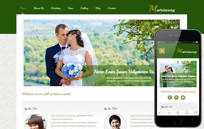 Matrimony a Wedding Planner Flat Bootstrap Responsive Web Template Mobile website template Free