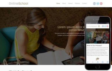 Online School a Educational Category Flat Responsive web template