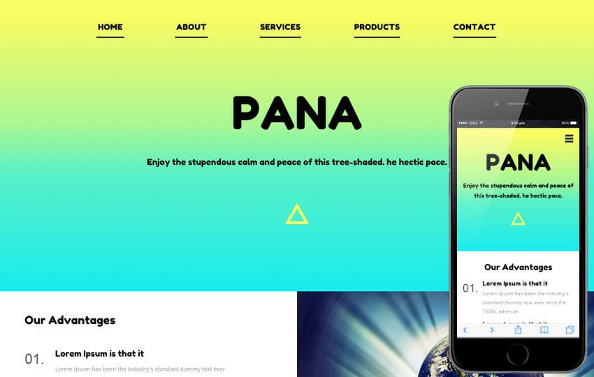 Pana a landingpage Multipurpose Flat Bootstrap Responsive Web Template