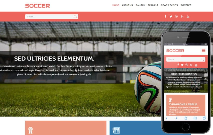 Soccer a Sports Category Flat Bootstrap Responsive Web Template
