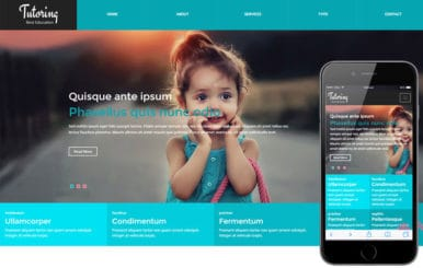Tutoring a Educational Category Flat Bootstrap Responsive web template