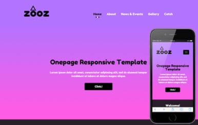 Zooz a landingpage Multipurpose Flat Bootstrap Responsive Web Template