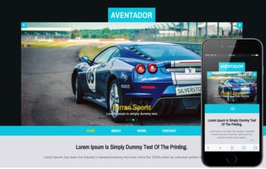 Aventador a Auto Mobile Category Flat Bootstrap Responsive Web Template