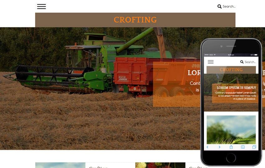 Crofting a Agriculture Category Flat Bootstrap Responsive Web Template Mobile website template Free