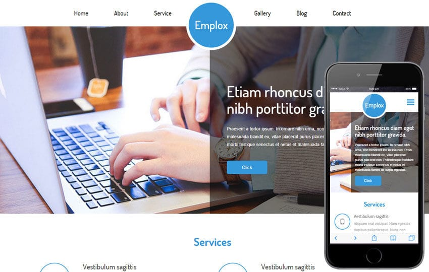 Emplox a Personal Portfolio Flat Bootstrap Responsive Web Template Mobile website template Free