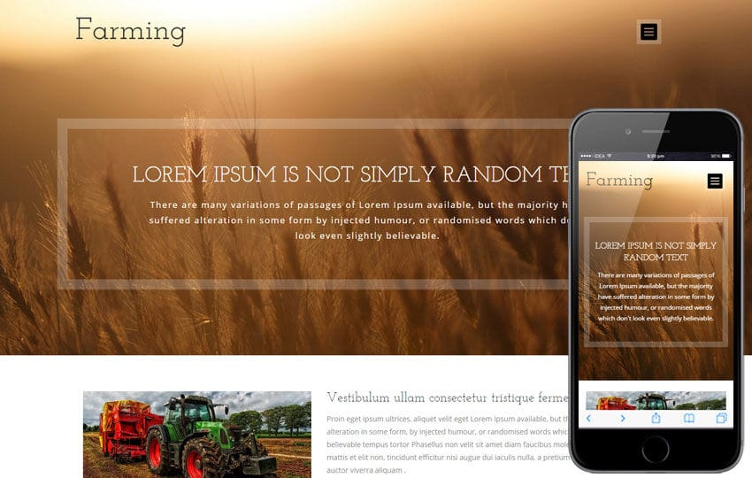 Farming a Agriculture Category Flat Bootstrap Responsive Web Template Mobile website template Free