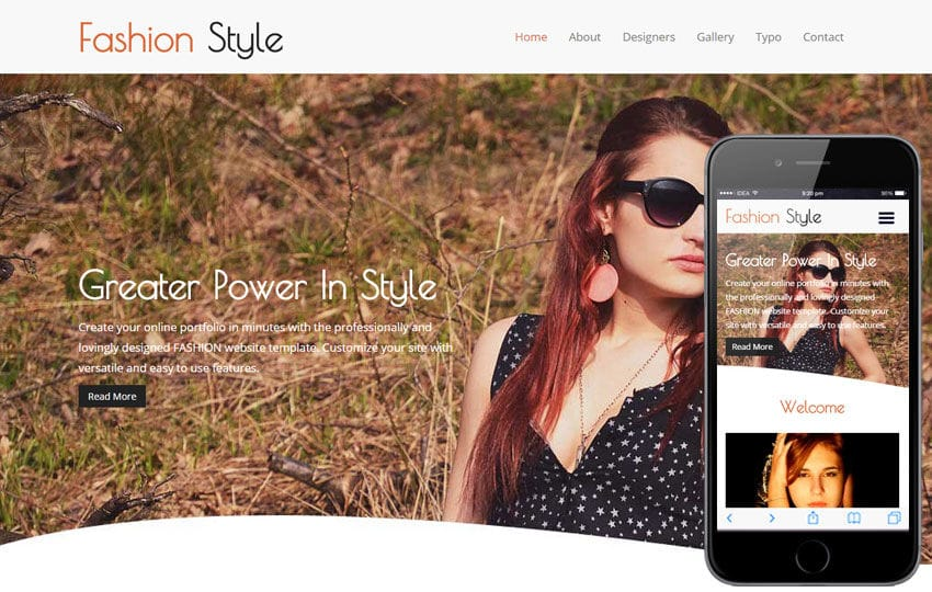 Fashion Style a Fashion Category Flat Bootstrap Responsive Web Template Mobile website template Free