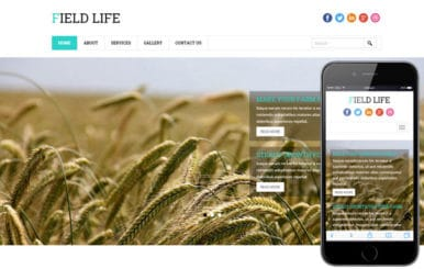 Field Life a Agriculture Category Flat Bootstrap Responsive Web Template