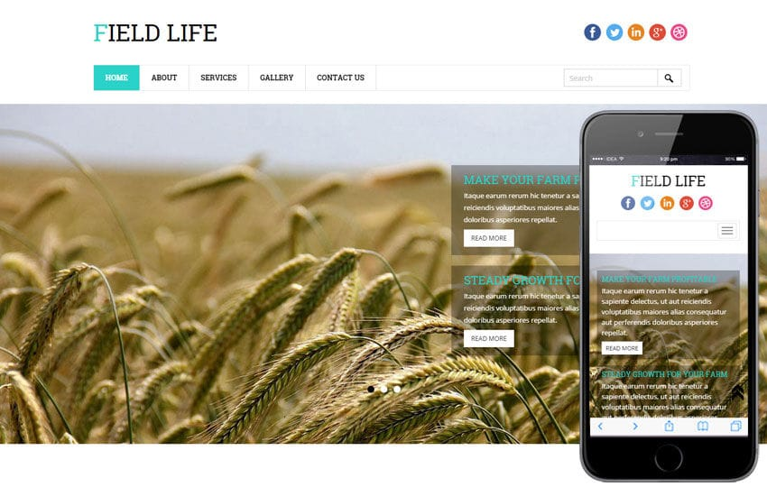 Field Life a Agriculture Category Flat Bootstrap Responsive Web Template Mobile website template Free