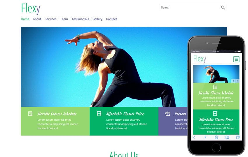 Flexy a Sports Category Flat Bootstrap Responsive Web Template