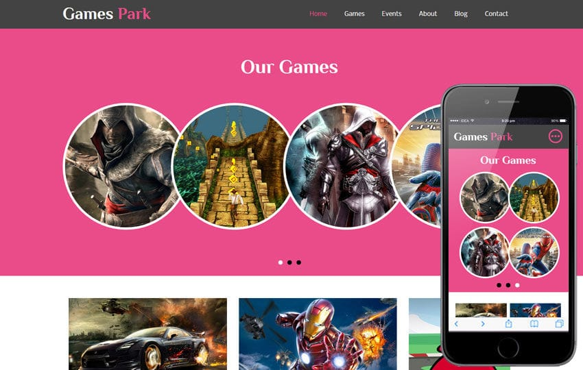 Games Park a Games Category Flat Bootstrap Responsive Web Template Mobile website template Free