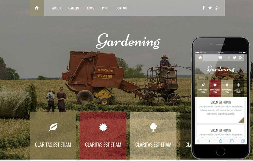 Gardening a Agriculture Category Flat Bootstrap Responsive Web Template Mobile website template Free