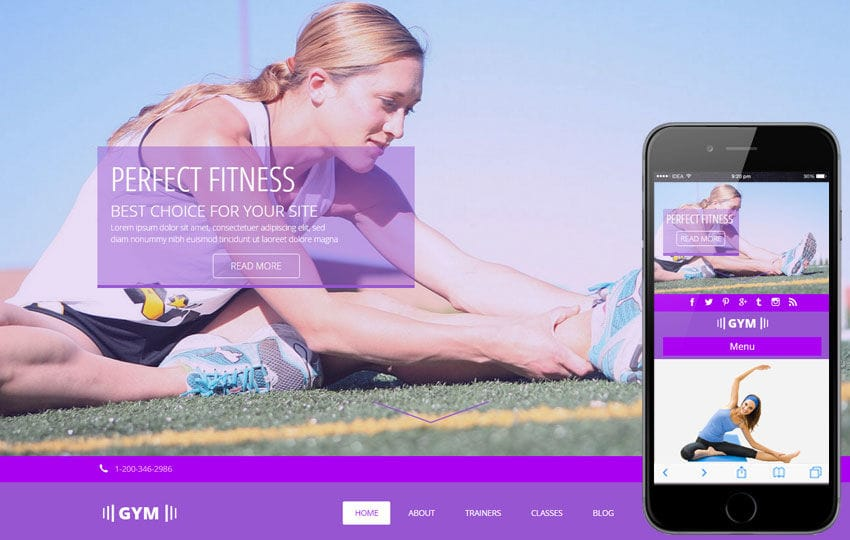 Gym V2 a Sports Category Flat Bootstrap Responsive Web Template Mobile website template Free