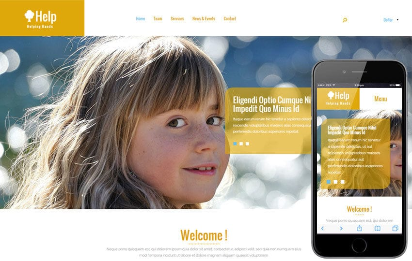 Help a Charity Category Flat Bootstrap Responsive Web Template Mobile website template Free
