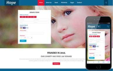 Hope a Charity Category Flat Bootstrap Responsive Web Template