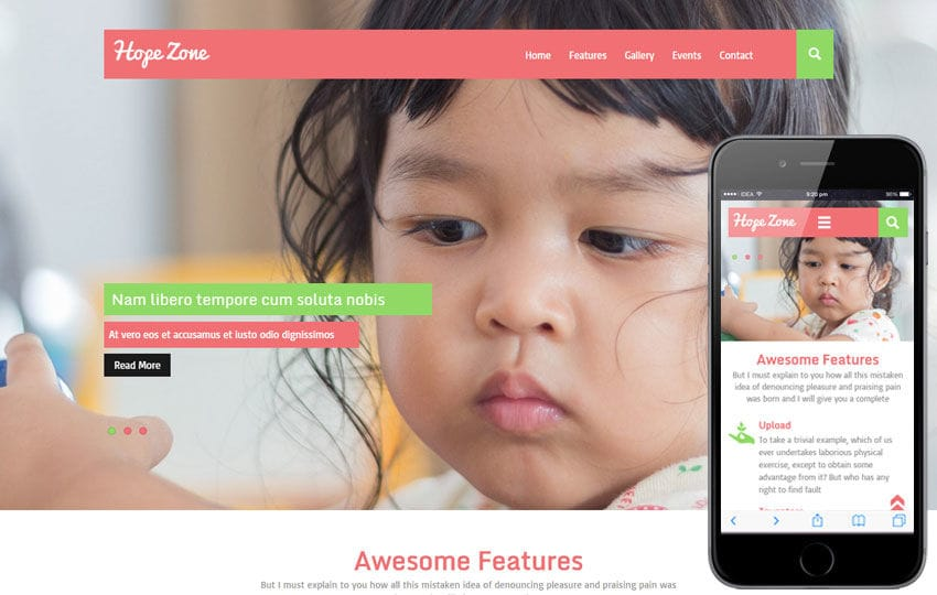 Hope Zone a Charity Category Flat Bootstrap Responsive Web Template