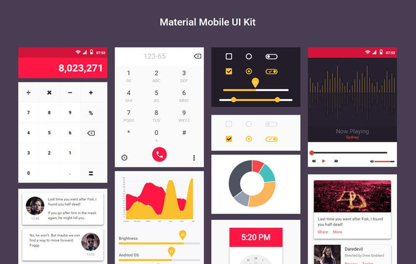 Material Mobile UI Kit a Flat Bootstrap Responsive Web Template Mobile website template Free