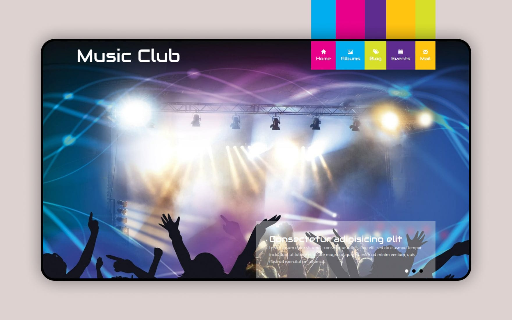 Music Club a Entertainment Category Flat Bootstrap Responsive web template