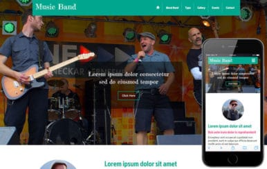 Music Band a Entertainment Category Flat Bootstrap Responsive web template
